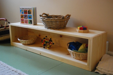 displaying toys for a toddler